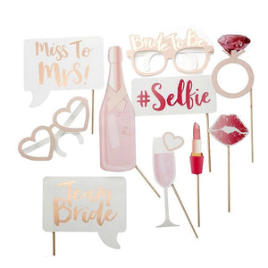 bachelorette bride photo props