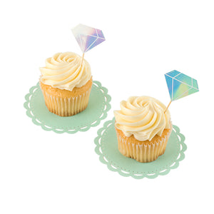 party gemstone cake topper