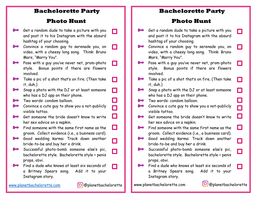Free bachelorette photo scavenger hunt