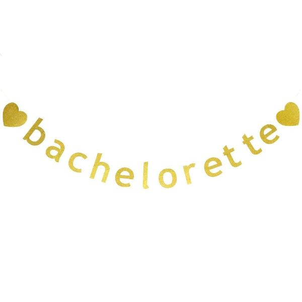bachelorette party supplies canada gold banner