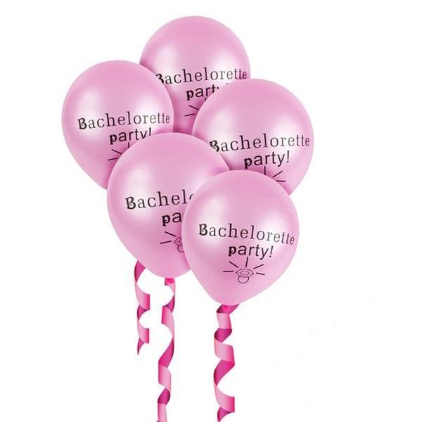 pink bachelorette party balloons canada