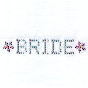 bachelorette bride iron on transfer decal