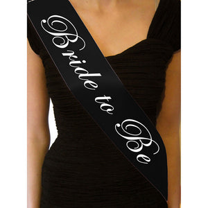 Black bride to be sash ribbon