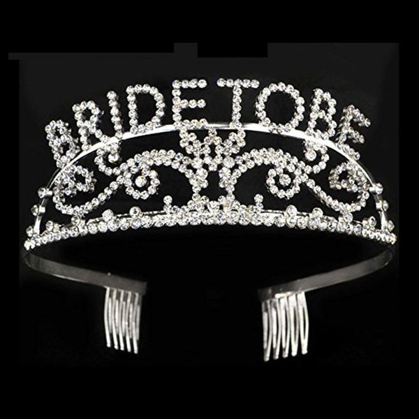Bride to be tiara with rhinestones perfect for bachelorette or bridal shower