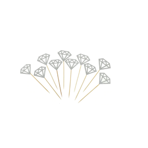 Cake toppers - pack of 10 diamond toppers