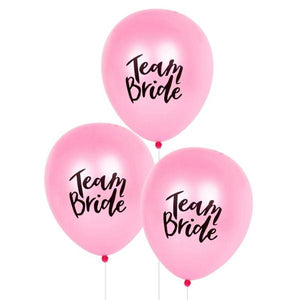Bachelorette team bride balloons pink canada
