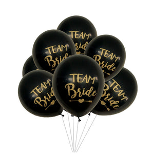 bachelorette team bride balloons black