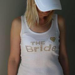 The Bride - white tank top