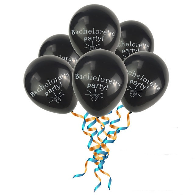 Balloons - Bachelorette Party black