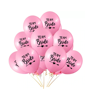 Bachelorette team bride balloons pink and black