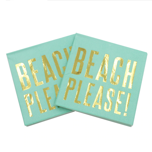 aloha beaches beach party napkins