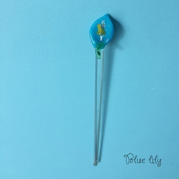 Mexican glass stir stick blue lily canada