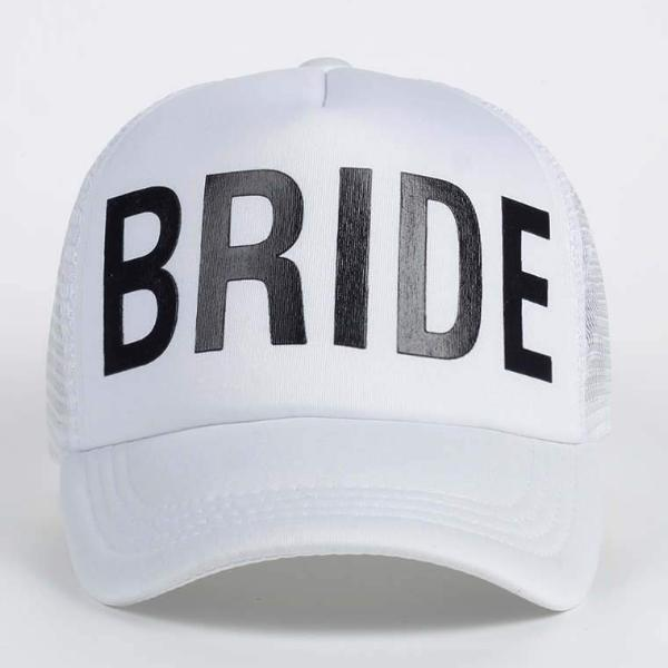white hat mesh trucker bride bachelorette