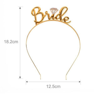 Bride headband - gold with silver