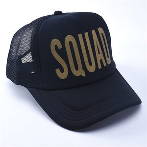 Bride Squad back mesh trucker hat bachelorette