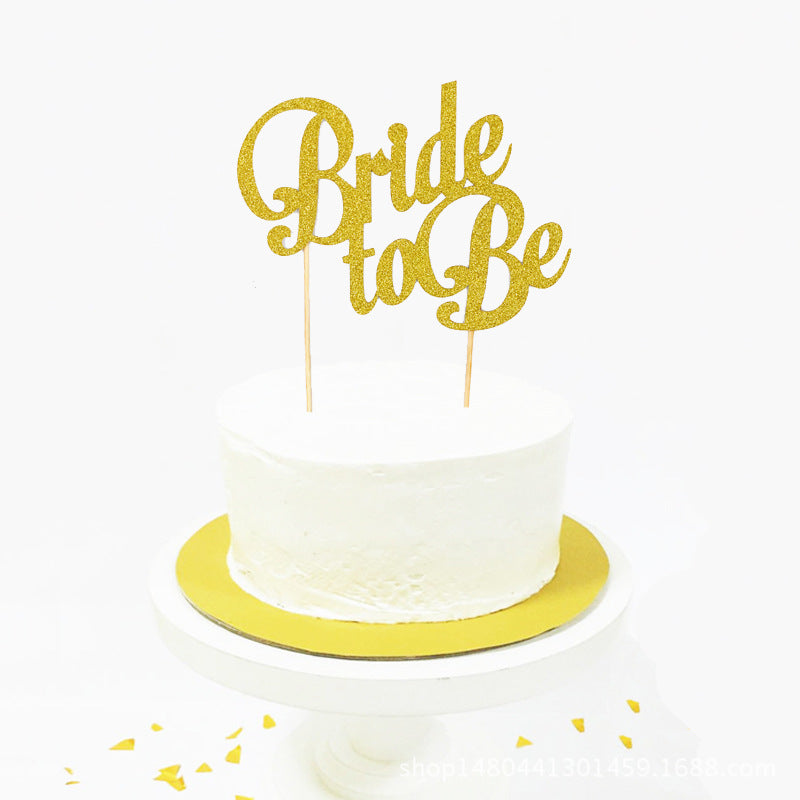 bride to be cake topper gold bachelorette bridal shower