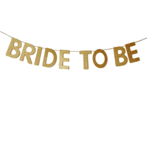 bride to be banner gold bachelorette canada
