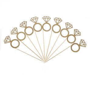 Ring cupcake cake topper gold