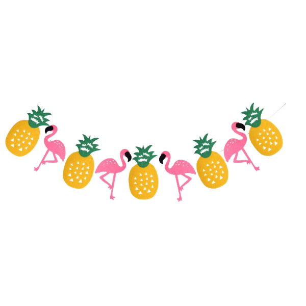 flamingo pineapple banner