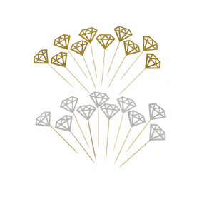 gold and silver ring bachelorette cake toppers