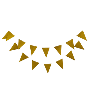 Mini gold party bunting banner for bachelorette or shower