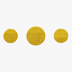 gold sparkle circle sewn garland