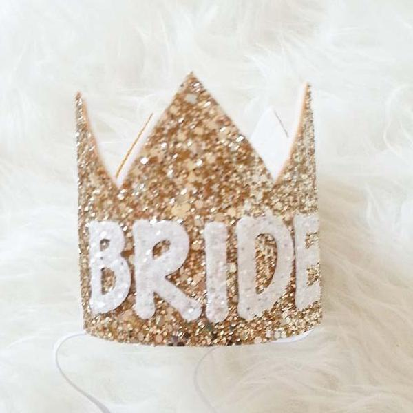 Mini gold crown - Bride