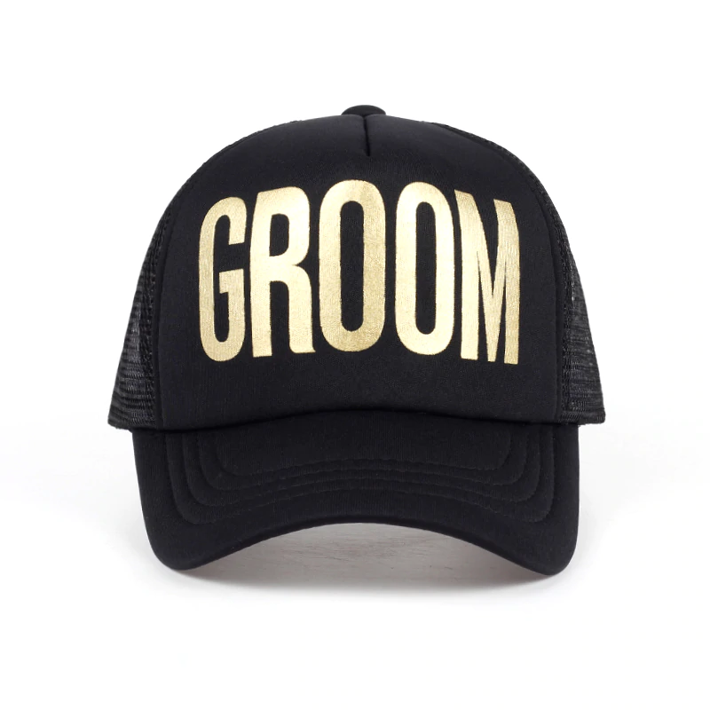 groom hat black bachelor