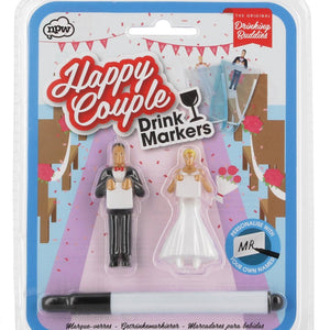 Happy couple drink markers