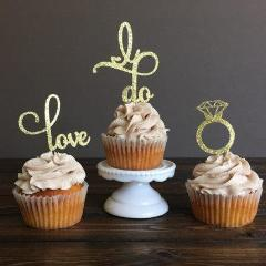 cupcake topper for engagement bachelorette and bridal party