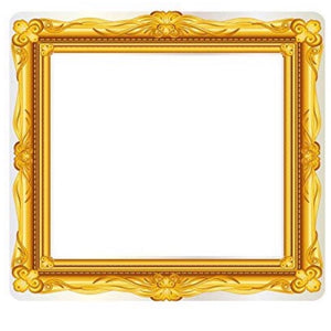 Inflatable selfie frame - gold