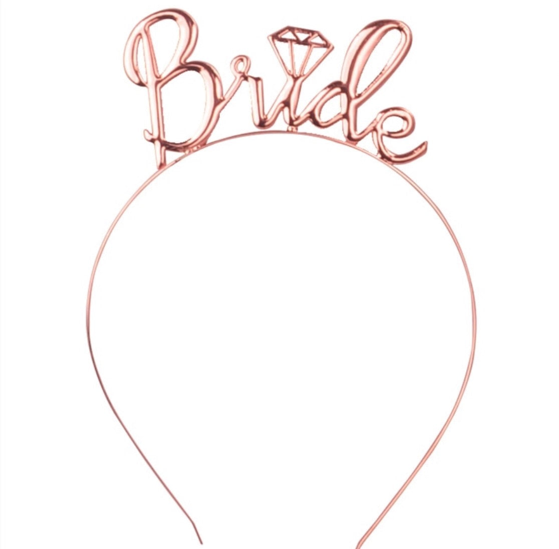 rose gold bachelorette bride headband