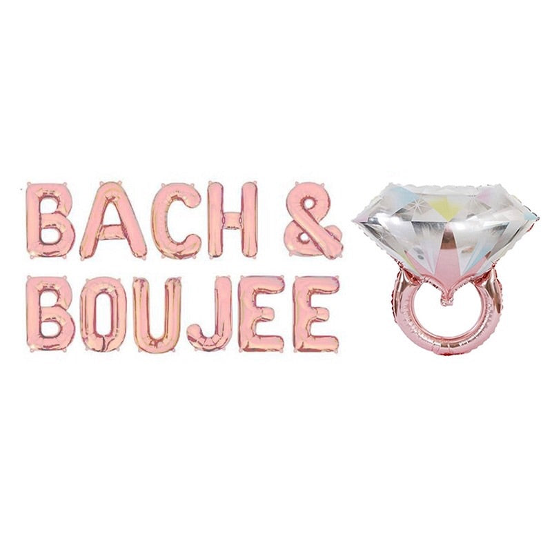 Bach & Boujee balloon banner - rose gold