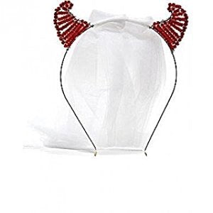 little devil bachelorette veil