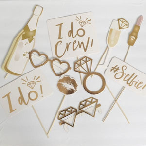 I do crew gold bachelorette photo prop canada