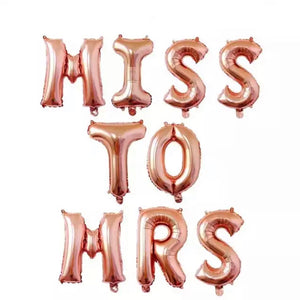 bridal shower banner rose gold miss to mrs
