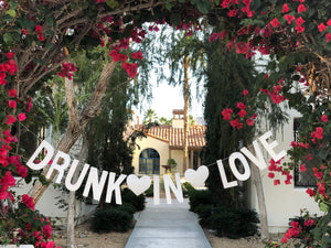 Drunk in love banner - silver