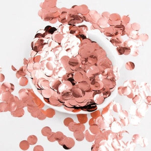rose gold bachelorette party confetti calgary