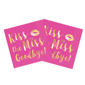 kiss the miss napkins bachelorette canada