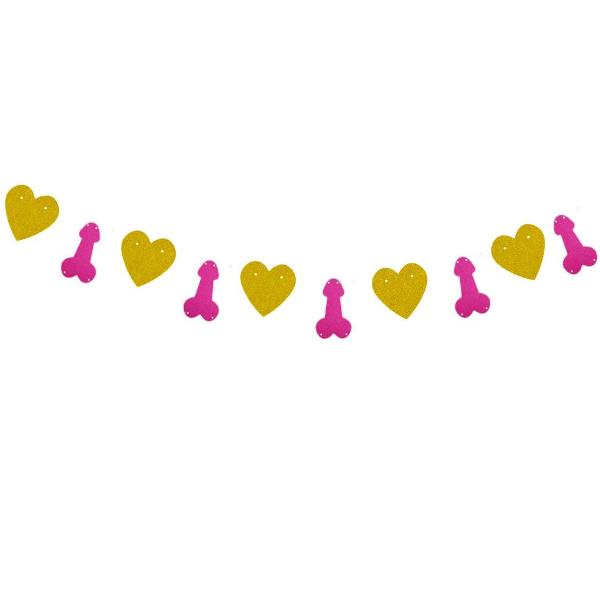 bachelorette gold heart pink penis banner canada