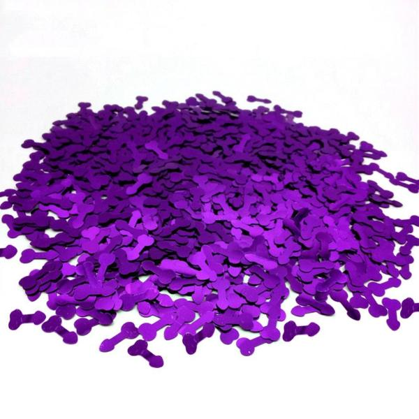 bachelorette party confetti decoration purple