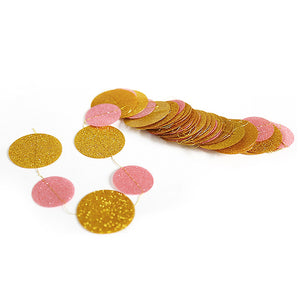 gold and pink banner bunting