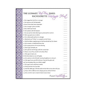 Scavenger Hunt Bar Fun list