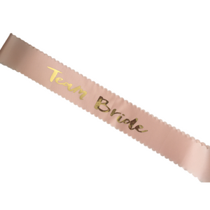 Team bride and Bride to be sashes (3 pcs)