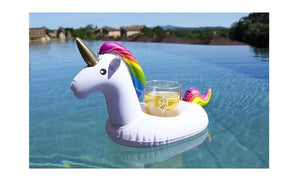 Mini inflatable floating unicorn cup holder
