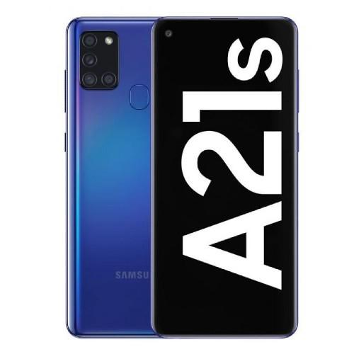 Samsung Galaxy A21s Dual SIM, 64GB, 4GB RAM, 4G LTE, UAE Version - Blue