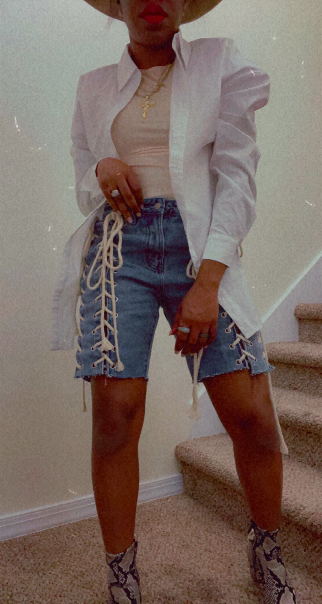 No Strings Attached Denim Shorts
