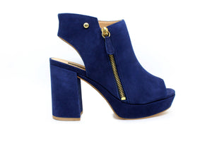 Ankle Boot Meia Pata em Nobuck