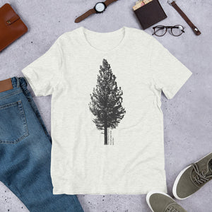 Jeffery Pine Tree Short-Sleeve Unisex T-Shirt (1 Shirt = 2 Trees)