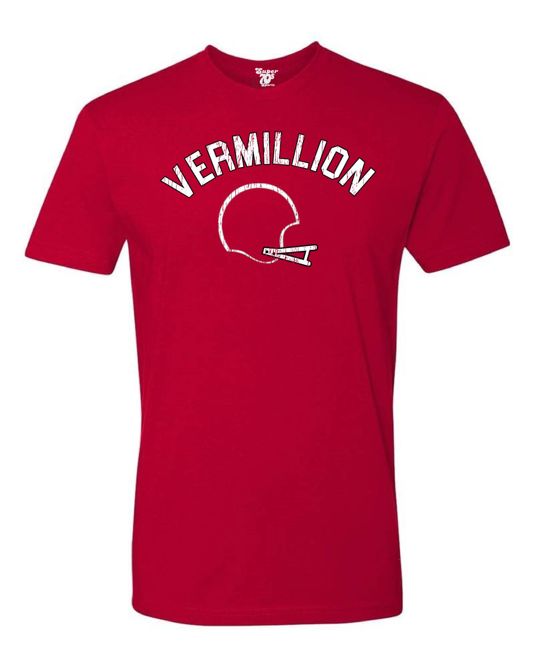 Vermillion Football Tee